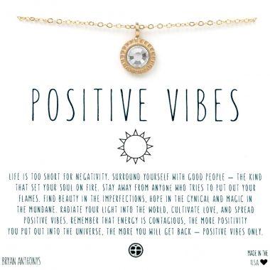 Positive Vibes 14k Matte Gold