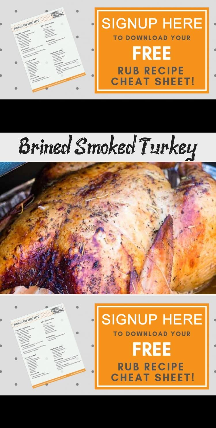 Make your Thanksgiving Turkey on your Traeger electric smoker this year This turkey is brined and then seasoned for a juicy tender turkey