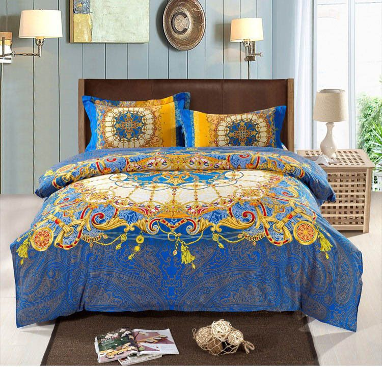 bohemian bedding set thicken cotton brushed comforter bedding sets bedsheet quilt cover set bedspreads king size