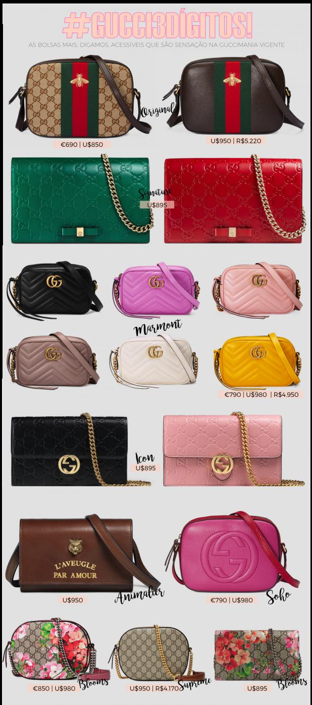 Guccimania e suas bolsas desejo da temporada  3 dígitos edition ! -  Fashionismo af1e96871b17c