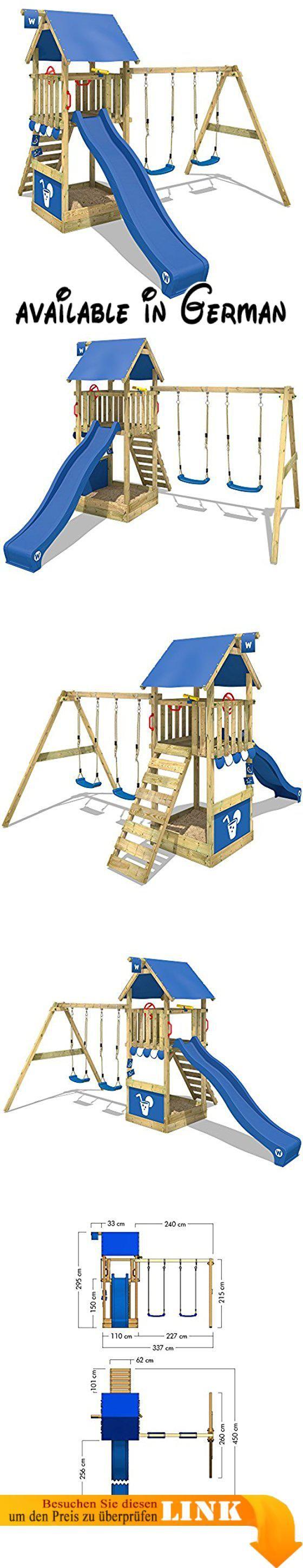 WICKEY Kletterturm Smart Shelter Spielturm mit Schaukel und Rutsche ...