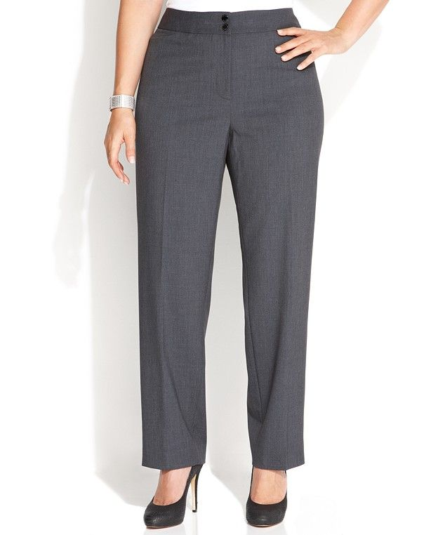 Gray Women\'s Plus Size Pants - Macy\'s | Cyber | Plus size pants ...