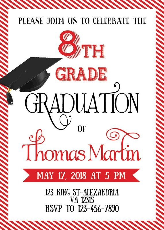 image regarding Printable Graduation Announcements identified as 8th Quality Commencement invite. Printable commencement invitation