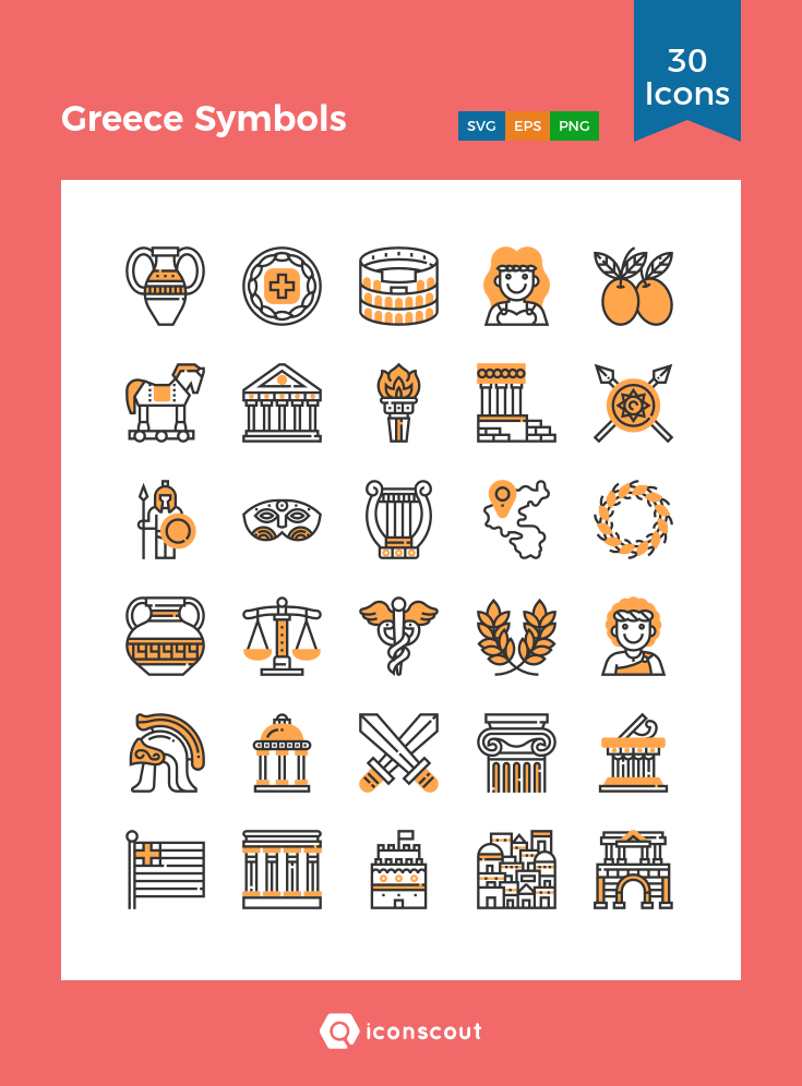 Download Greece Symbols Icon Pack Available In Svg Png Eps Ai Icon Fonts Greece Tattoo Greek Icons Greek Tattoos