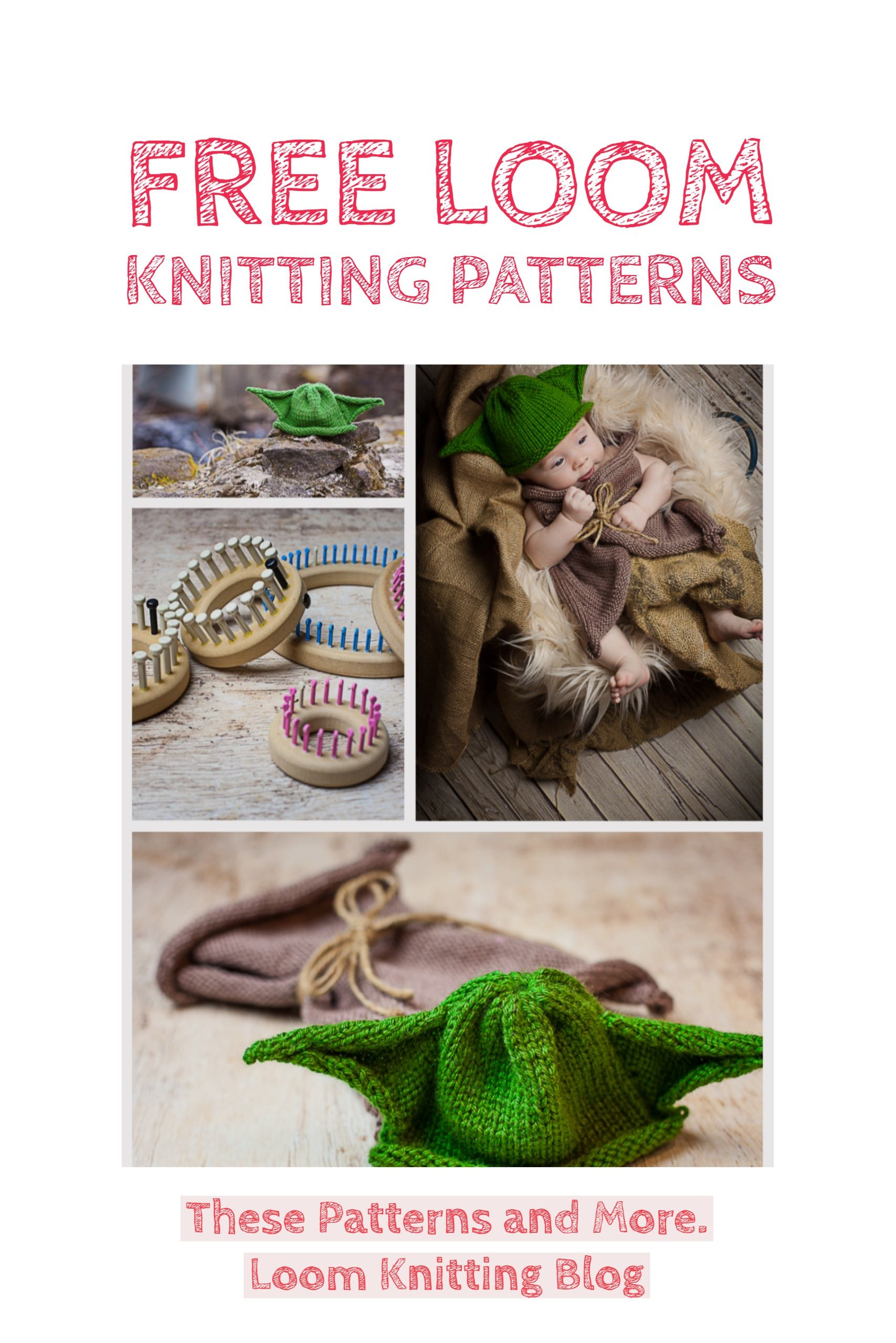 Tons of Free loom knitting patterns on this blog! This loom knit ...