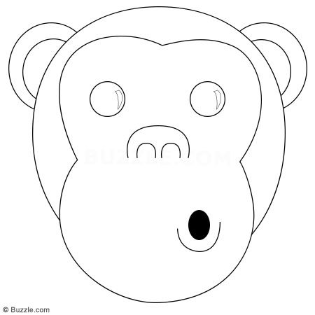 Monkey Face Drawing Easy