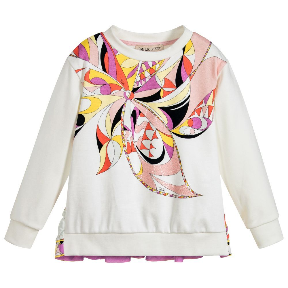 018044dc958c Girls Ivory Cotton Sweatshirt