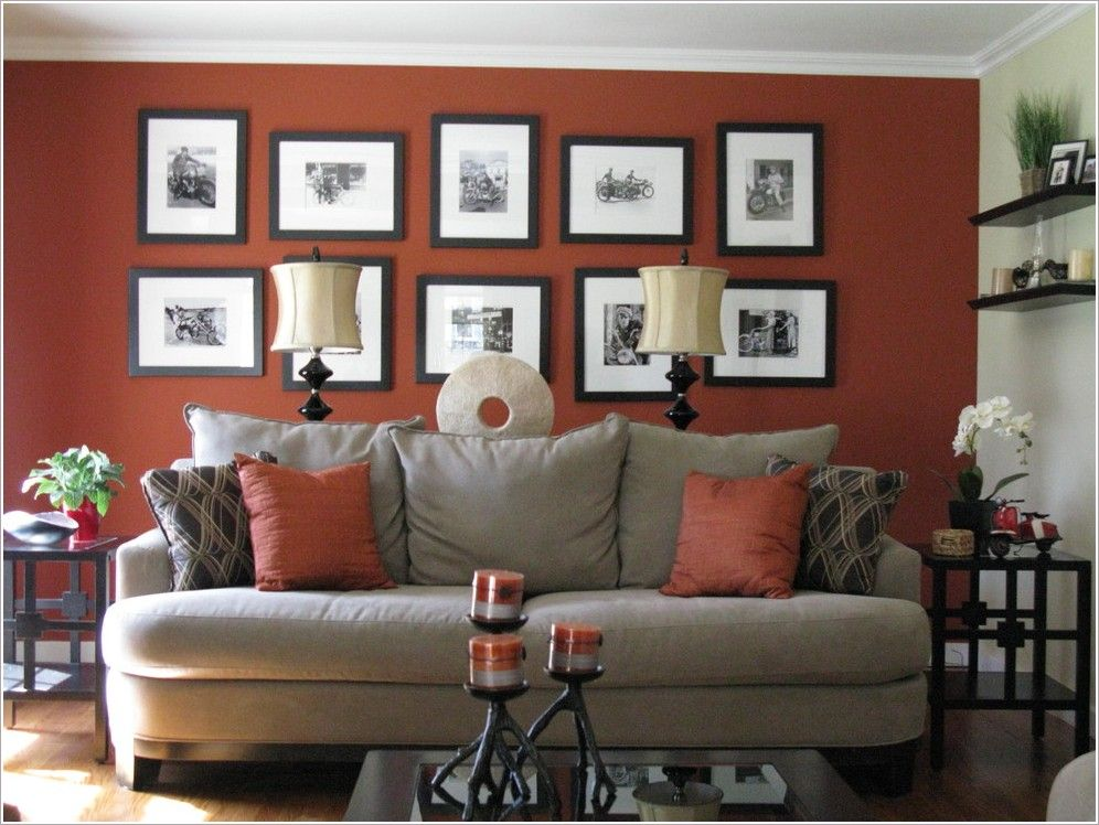 rust accent wall | Thanks to Shoshana Gosselin at http://www ...
