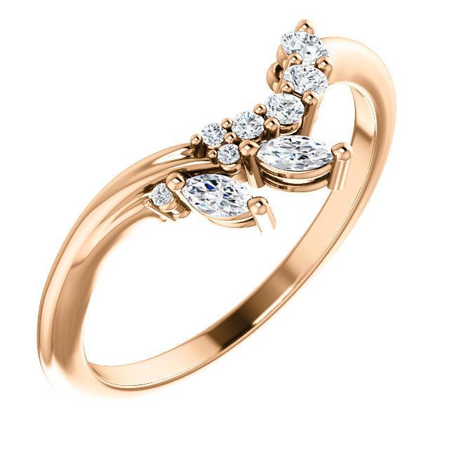 Elegant Diamond Contour Wedding Band Contour Wedding Band Pink Diamond Engagement Ring Enhancer Wedding Band