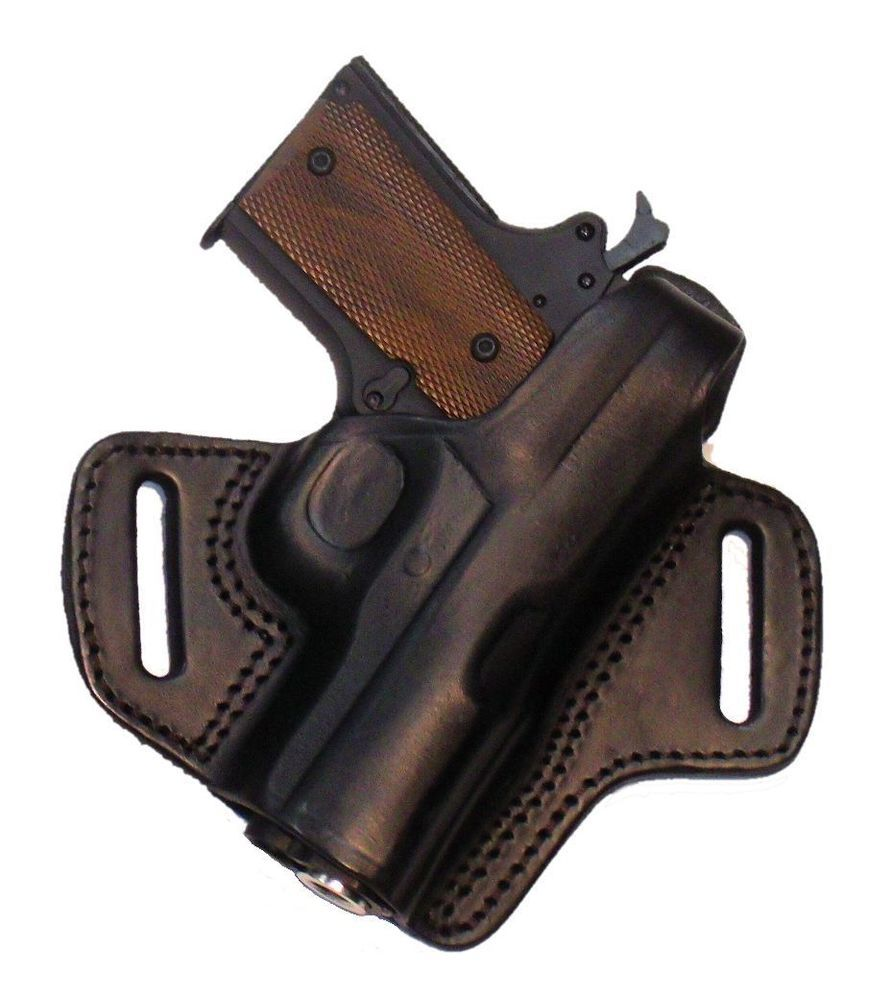 Tagua Locked Cocked Black Leather OWB Holster For Kimber Ultra 1911