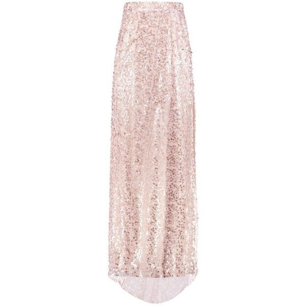 2b65a64dc4 Boohoo Boutique Lola Thigh Split Sequin Maxi Skirt   Boohoo ($30) ❤ liked on