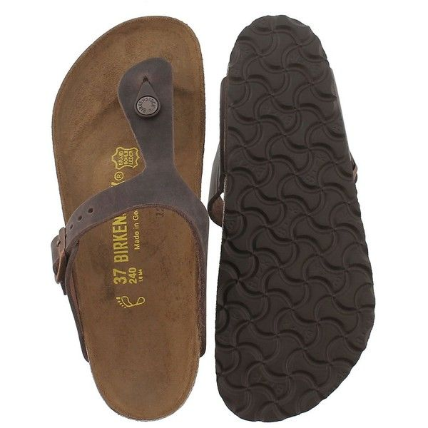 4aef4760a2e5 Birkenstock Women s GIZEH havana leather thong sandals (6