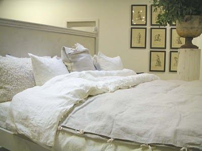 pour faire une housse de couette avec d 39 ancien drap de lin vieux draps vieilles dentelles. Black Bedroom Furniture Sets. Home Design Ideas