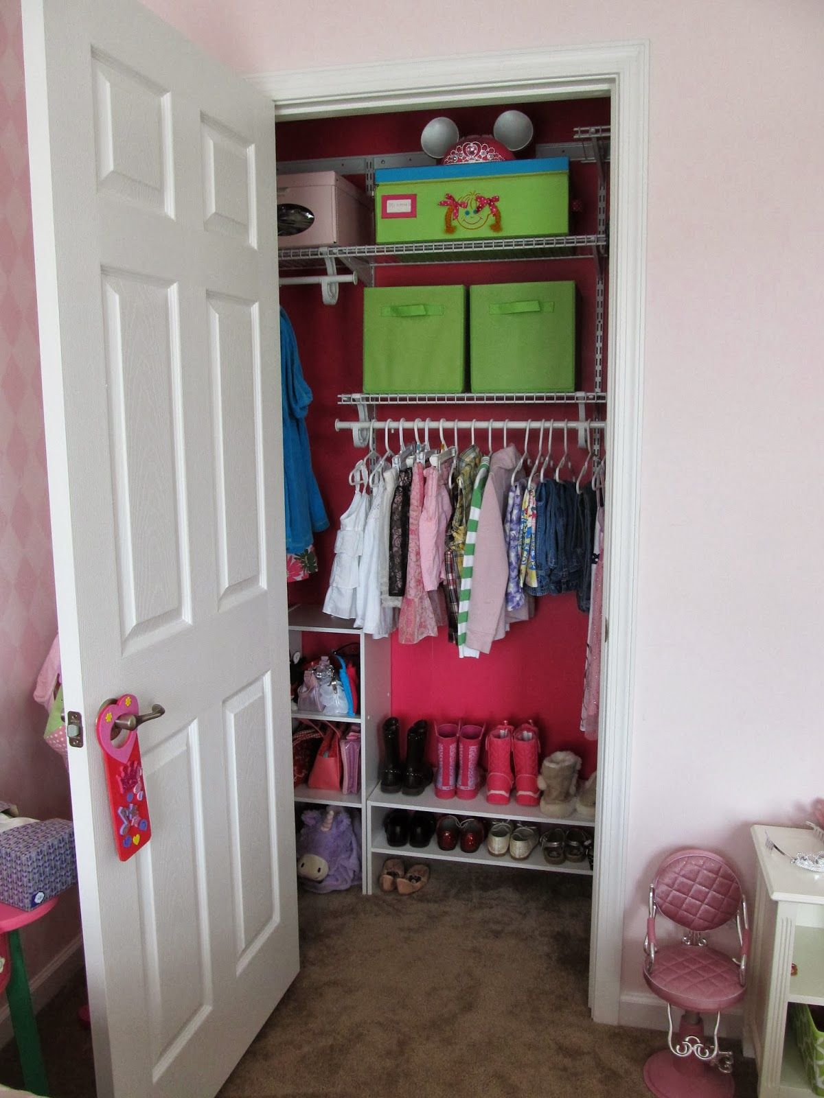 60 Pounds of Pancakes: Kid's Small Closet Revamp | Closet ...