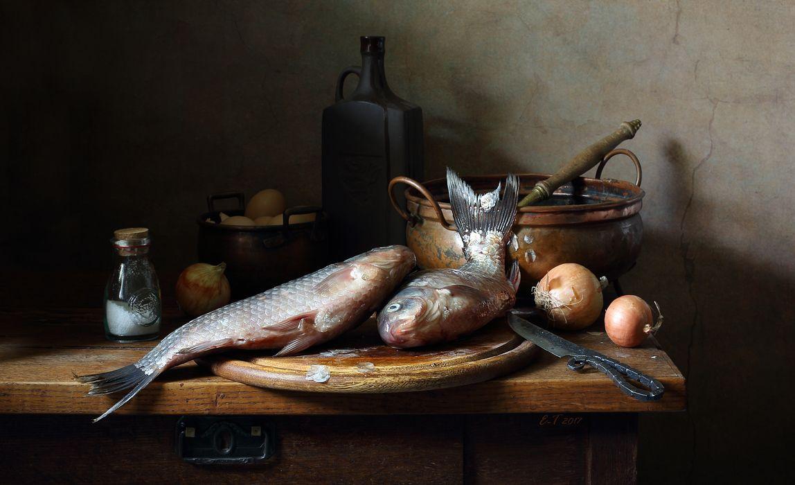картинки натюрморт с рыбой никем испорченным, лишь