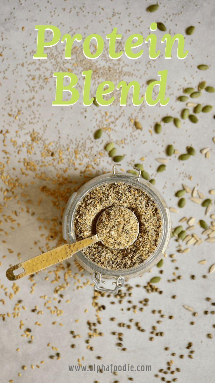 Diy 5seed vegan protein powder blend recipe with