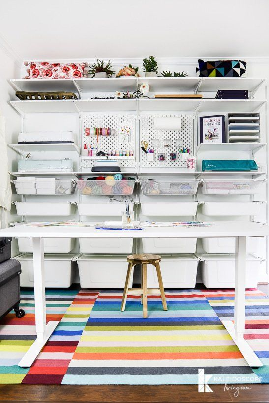Home Office Makeover & Craft Room Reveal #craftroommakeovers