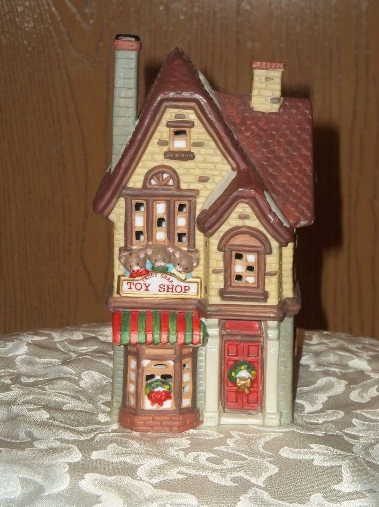 DICKENS KEEPSAKE PORCELAIN LIGHTED CHRISTMAS HOUSE TOY