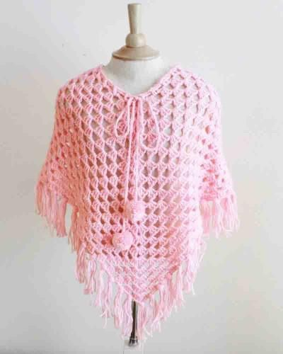 Ponchos for Kids Crochet Pattern