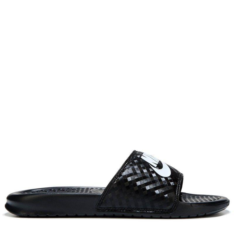 a672e453a Nike Women s Benassi Slide Sandals (Black White)