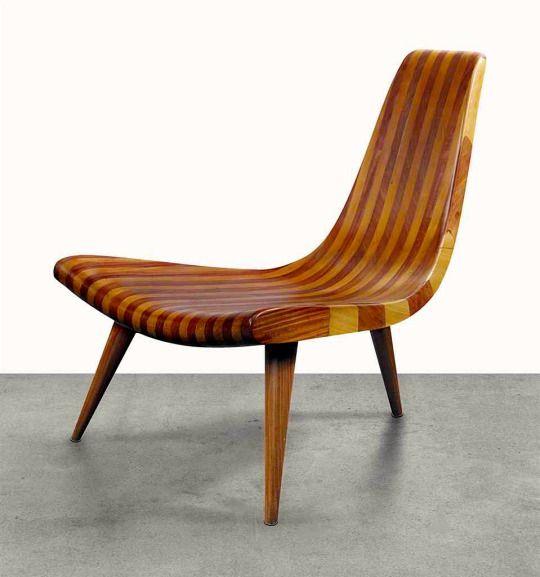 Three-legged Chair by Joaquim Tenreiro, 1947