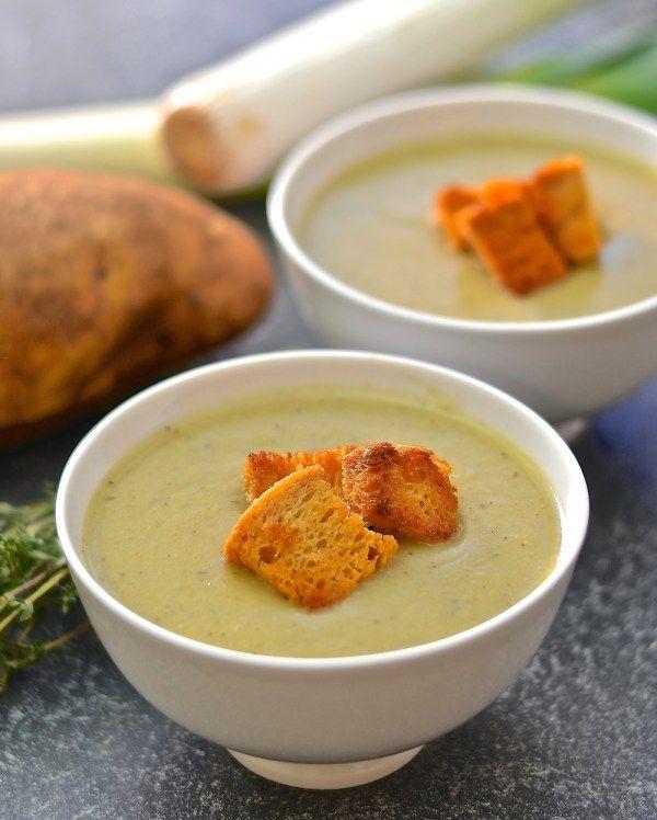 Creamy Leek & Potato Soup #justeatrealfood #avirtualvegan