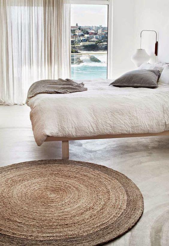 rond-vloerkleed-slaapkamer | Slaapkamer inspiratie | Pinterest ...