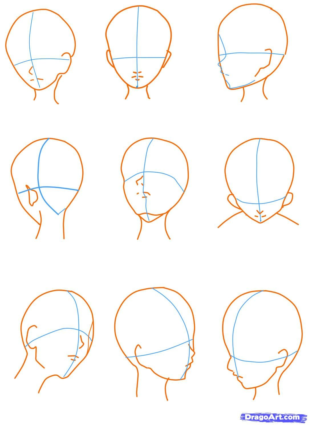 How To Sketch An Anime Face Step 11 Art Drawings Beautiful Drawings Step By Step Drawing