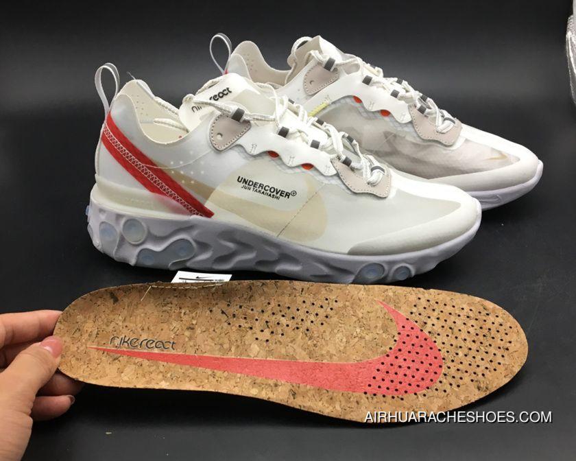 Buy Undercover x Nike React Element 87 WhiteCreamRed Online