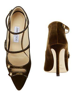 3ca29f5dd82 Jimmy Choo Lacey 100 Velvet Pumps Black Mary Jane Shoes