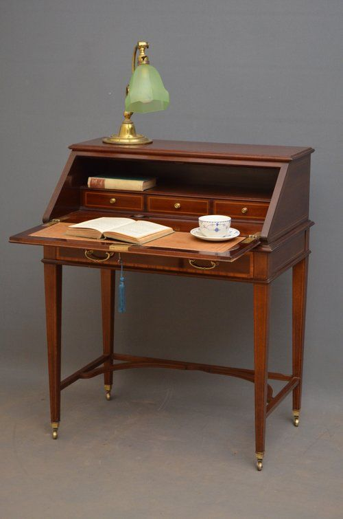 Elegant Mahogany Bureau by Maple   Co   Bureaus  Writing bureau and     Elegant Mahogany Bureau By Maple   Co   Antiques Atlas