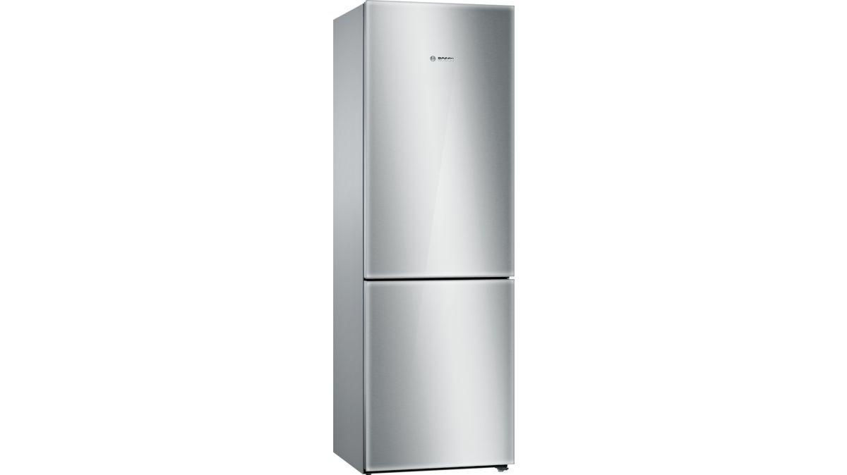 Bosch B10cb80nvs Free Standing Fridge Freezer With Freezer At Bottom Glass Door Stainless Steel Refrigerator Bottom Freezer Bosch