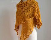 Pistachio green lace crochet stole cotton F626 by Berniolie