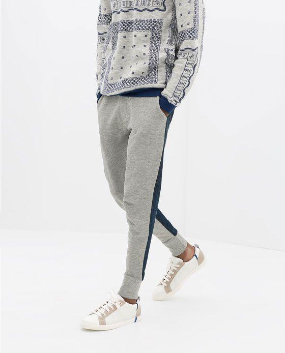 8e70b62b6014 Fashion Combined Pinterest Velour Zara Denim Trousers Men s UXdg8v