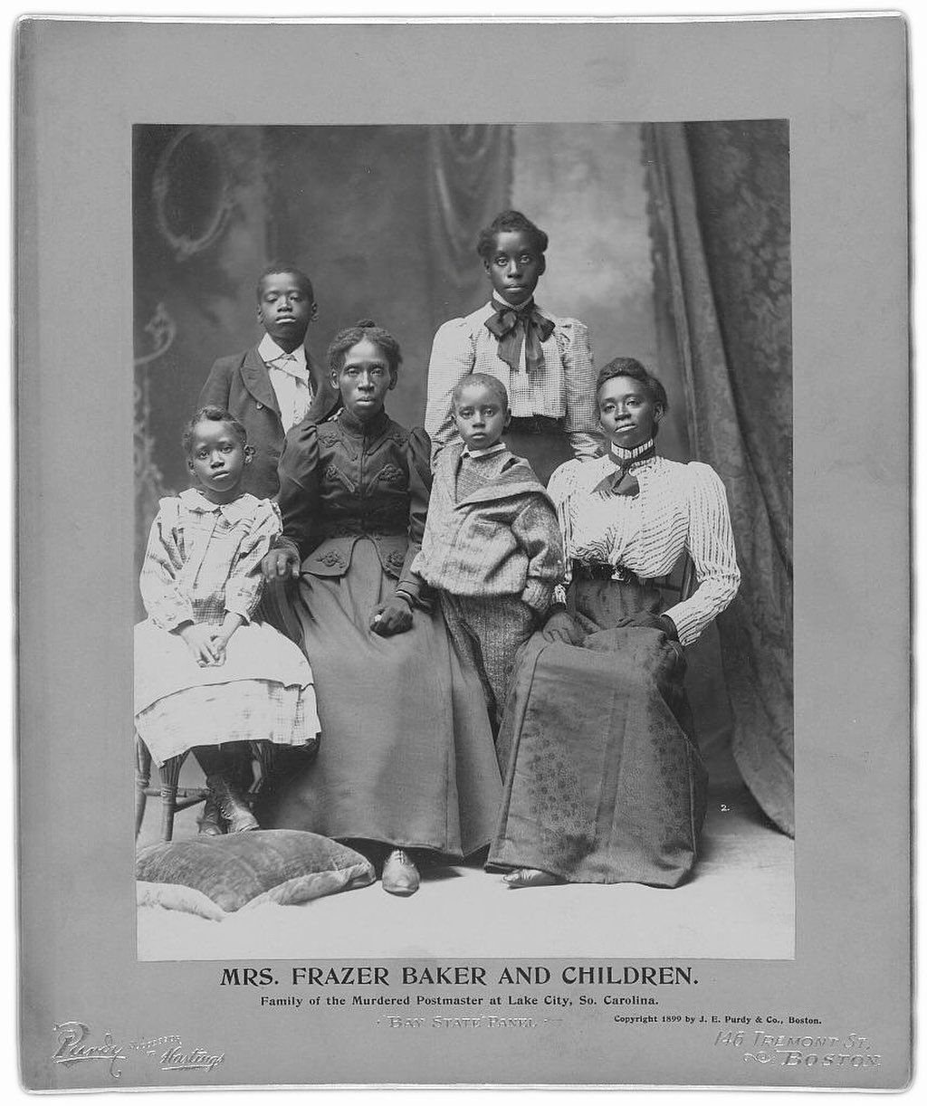 Lavinia Baker and her five surviving children. A mob of ...