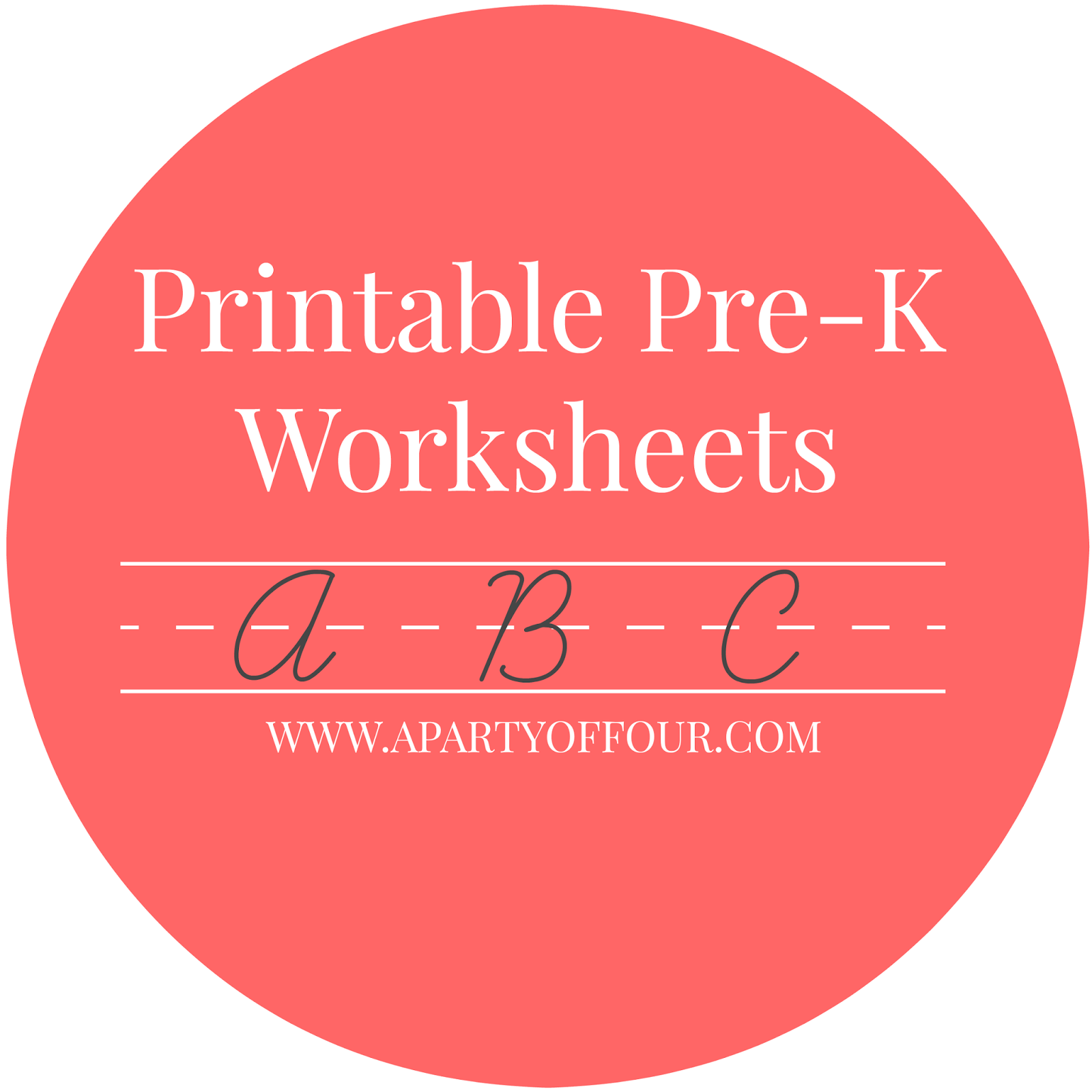Printable Pre K Worksheets