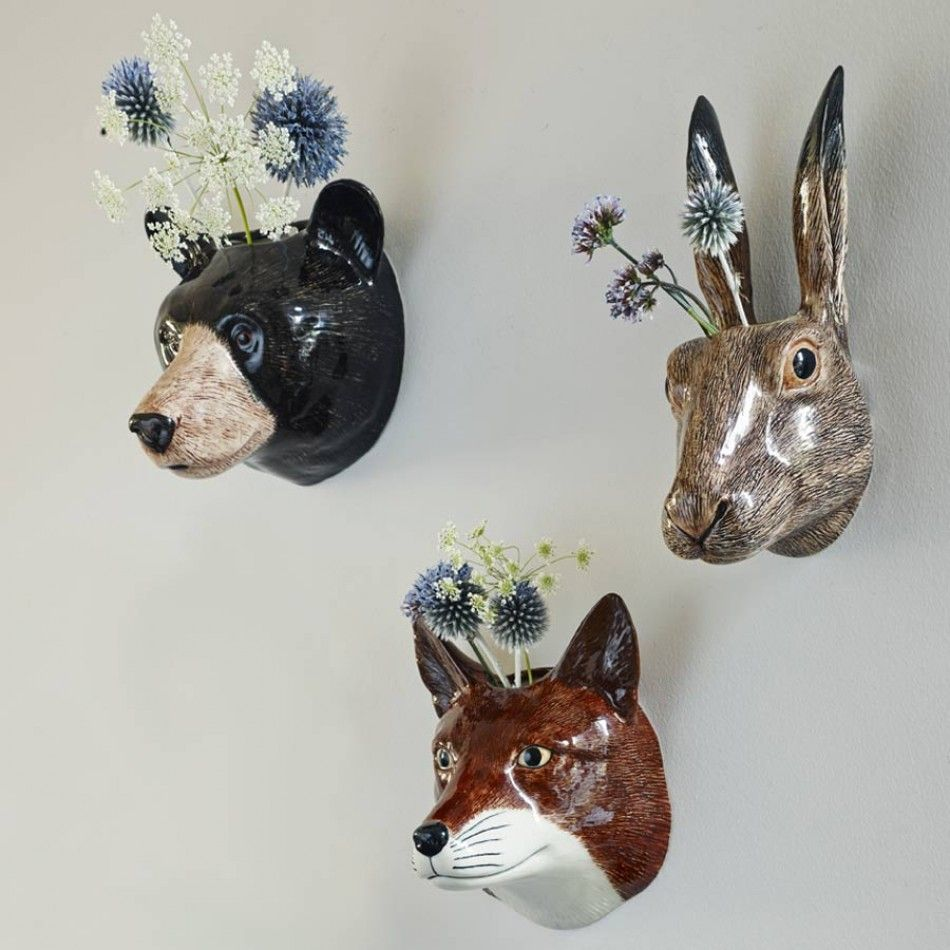 Ceramic animal wall vases animal heads home accessories faux ceramic animal wall vases animal heads home accessories amipublicfo Gallery