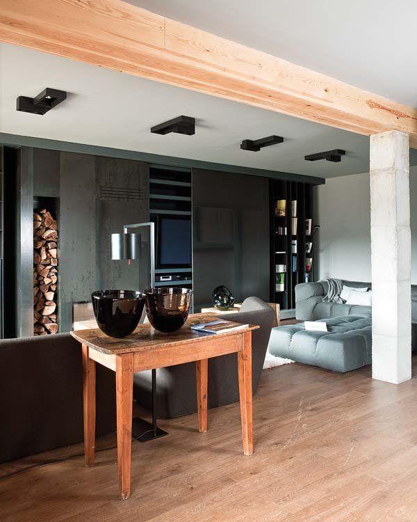 Cálida casa de montaña Casa rural contemporánea, Por fuera y Casas - salones de lujo