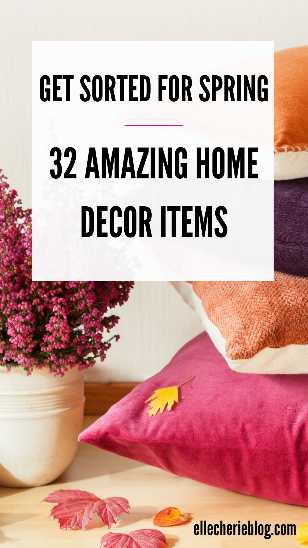Get ready for spring with some new home decor. These 32 ideas will have your home looking fresh and updated for spring. See our decor ideas to get inspired and give your home a mini makeover. #homedecor #decor #decorideas #decordiy