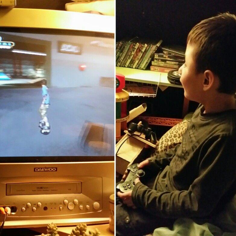 My boy playing THPS2