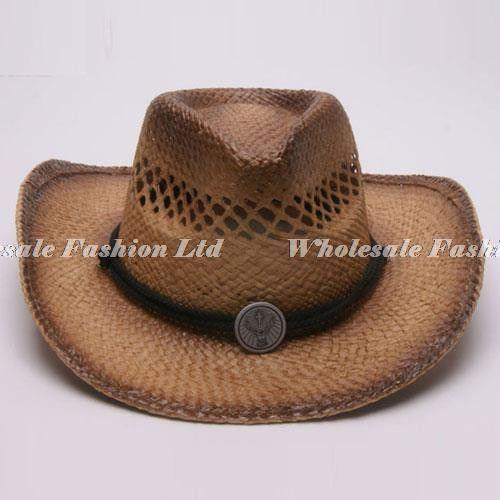 Wholesale 6pcs Lot Cool Mens Western Cowboys Straw Hats Women Nature Summer  Sun Beach Cap Ladiess Wide Brim Cowgirls Hats a15928a60291