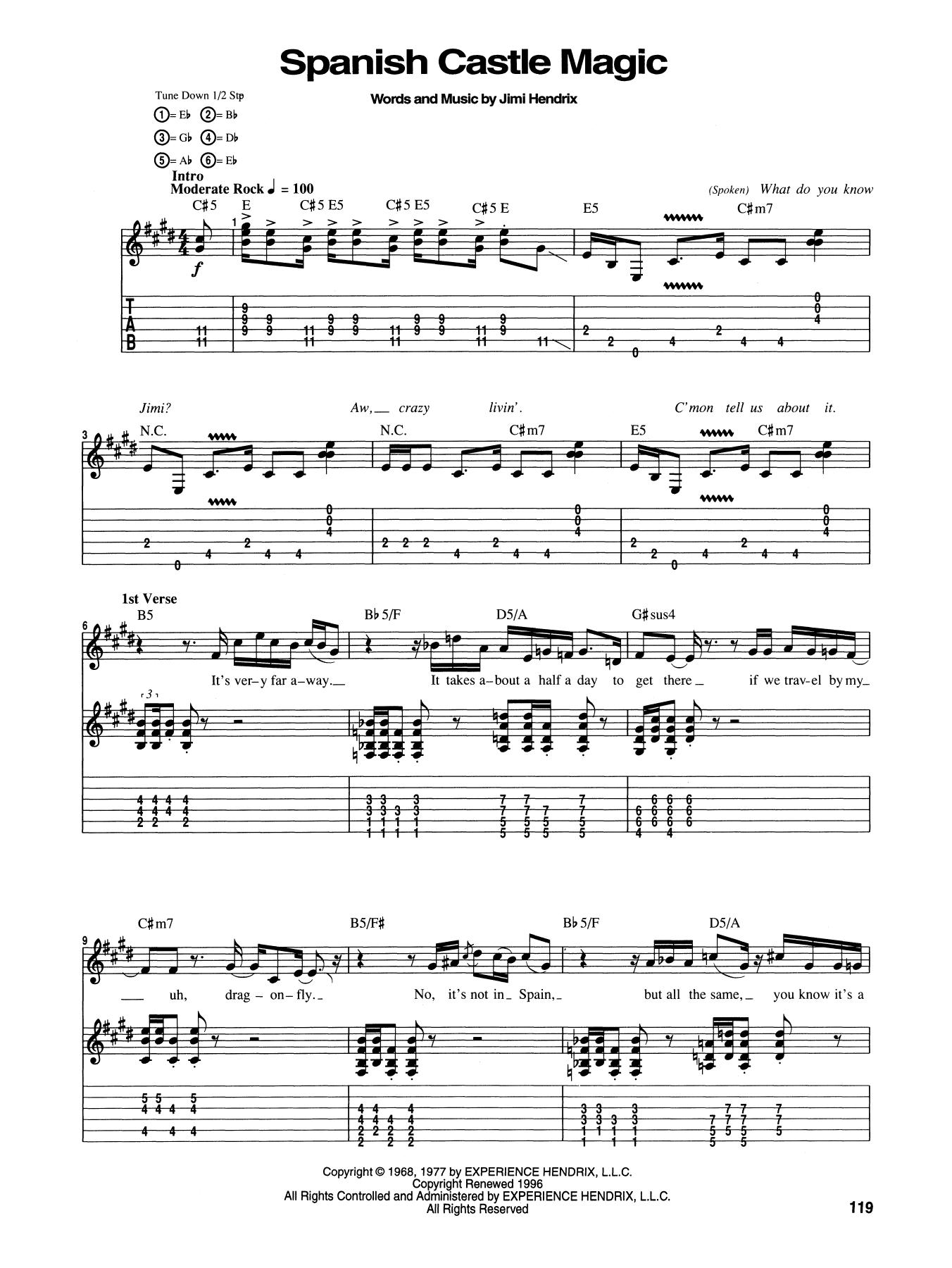 partition musique espagnole guitare