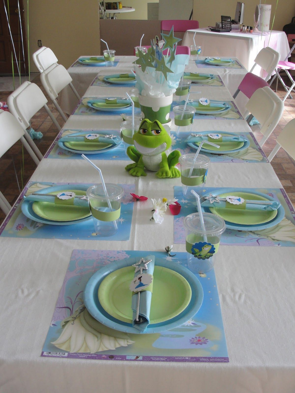 Table Set-Up... | Birthdays!! :D | Pinterest | Frogs, Princess and ...