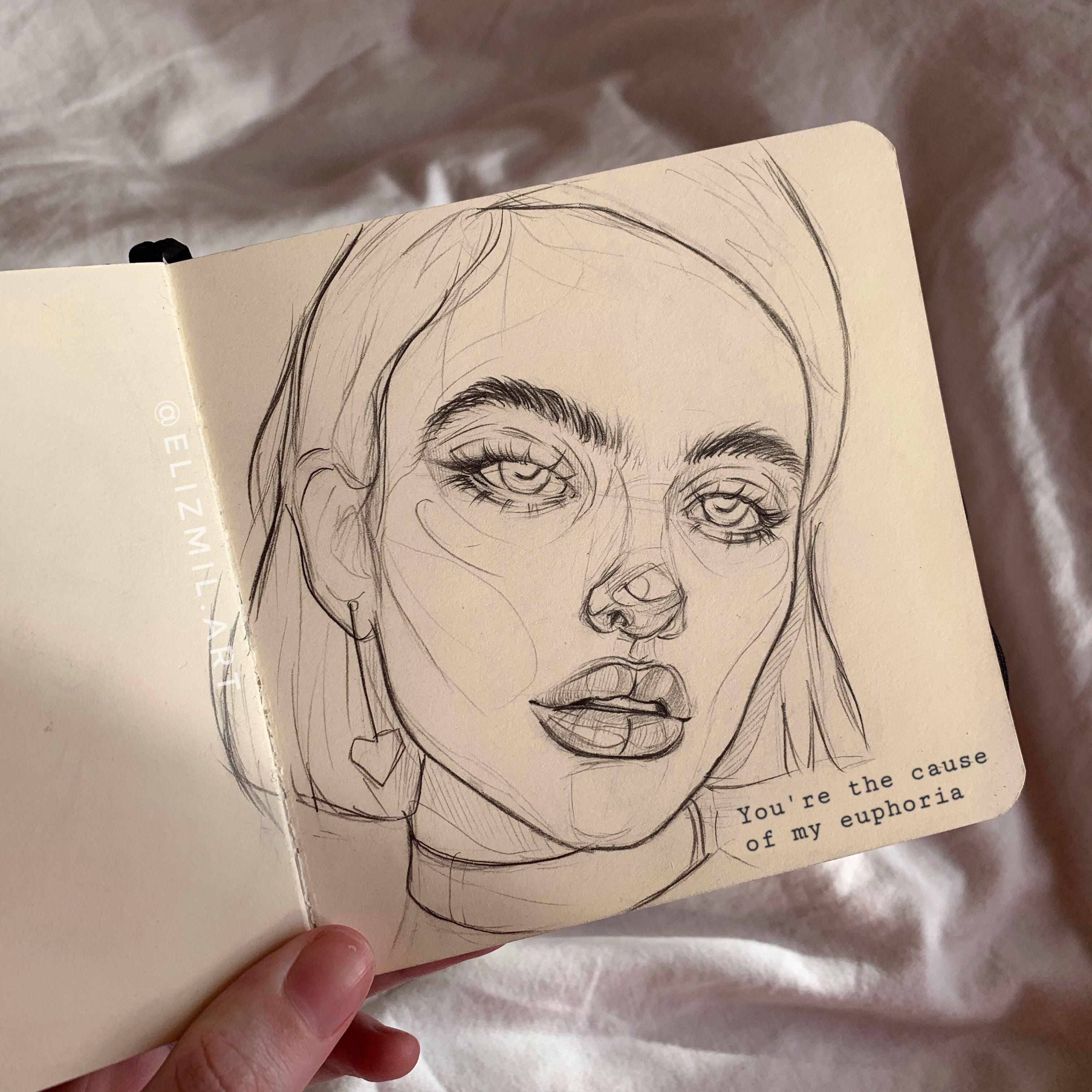 Euphoria In 2020 Art Sketches Line Art Drawings Art