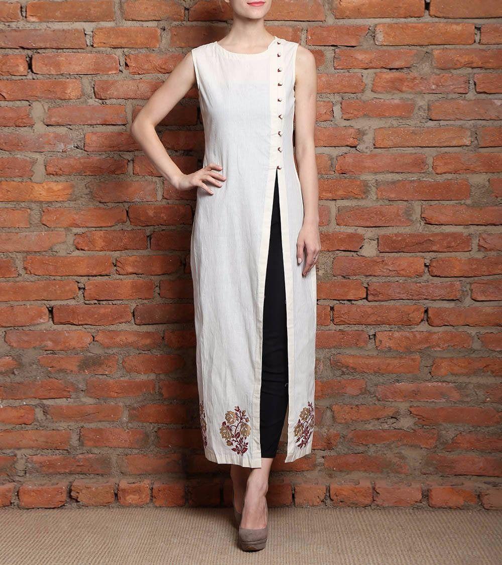 3c792c90208 Shop Designer Party Wear Kurtis Bollywood Low Price Sale Offer Color White  Heavy Bridal Wedding Kurtis (size   Xl) by Mogal Ethnic online.