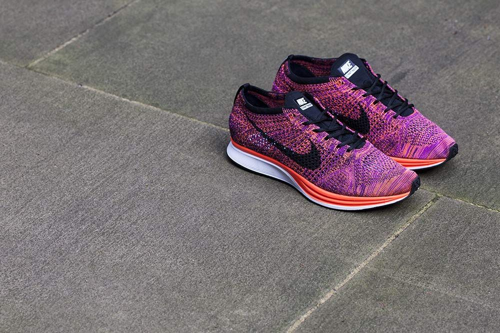 8797e4a33fd84 Nike Flyknit Racer Acai Berry On Feet cambridgenaturalskincare.co.uk
