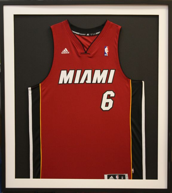 huge selection of 682ca e7a80 NBA Miami Heat LeBron James Jersey custom matted and framed ...
