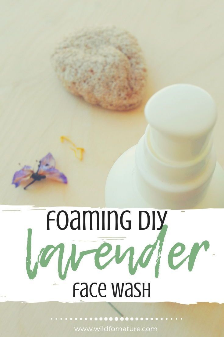 Photo of Make your own lavender foaming DIY face wash!