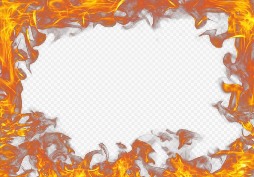 Real Fire Outline Frame Border Effect Citypng Real Fire Frame Outline