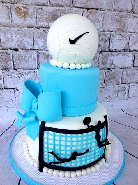 volley ball cake More tortai Pinterest Volleyball Cake and